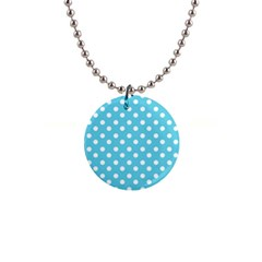 Sky Blue Polka Dots Button Necklaces by creativemom