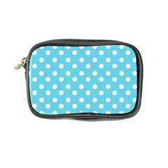 Sky Blue Polka Dots Coin Purse by creativemom