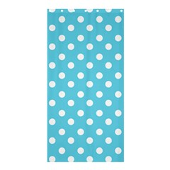 Sky Blue Polka Dots Shower Curtain 36  X 72  (stall)  by creativemom