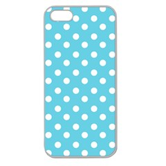 Sky Blue Polka Dots Apple Seamless Iphone 5 Case (clear) by creativemom