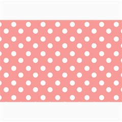 Coral And White Polka Dots Collage 12  X 18  by creativemom