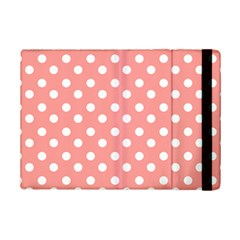 Coral And White Polka Dots Ipad Mini 2 Flip Cases by creativemom