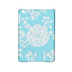 Aqua Blue Floral Pattern Ipad Mini 2 Hardshell Cases by LovelyDesigns4U
