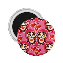 Cute Owls In Love 2 25  Magnets by LovelyDesigns4U