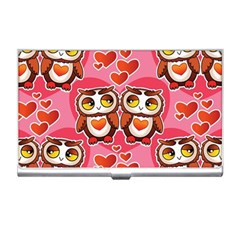 Cute Owls In Love Business Card Holders by LovelyDesigns4U