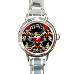 King Of Hearts Round Italian Charm Watches by LovelyDesigns4U