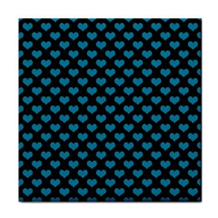 Blue Hearts Valentine s Day Pattern Tile Coasters by LovelyDesigns4U