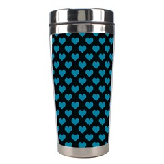 Blue Hearts Valentine s Day Pattern Stainless Steel Travel Tumblers by LovelyDesigns4U