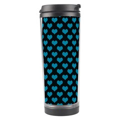 Blue Hearts Valentine s Day Pattern Travel Tumblers by LovelyDesigns4U