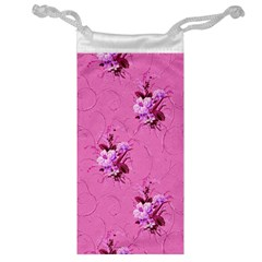 Pink Floral Pattern Jewelry Bags by LovelyDesigns4U
