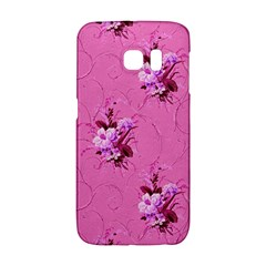 Pink Floral Pattern Galaxy S6 Edge by LovelyDesigns4U