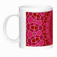 Pink And Red Mandala Night Luminous Mugs by LovelyDesigns4U