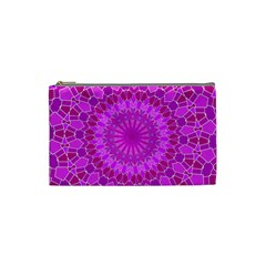 Purple And Pink Mandala Cosmetic Bag (small)  by LovelyDesigns4U
