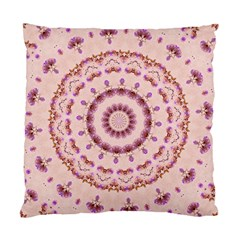 Pink And Purple Roses Mandala Standard Cushion Cases (two Sides)  by LovelyDesigns4U