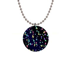 Pretty Stars Pattern Button Necklaces