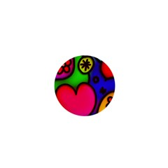 Colorful Modern Love 2 1  Mini Buttons by MoreColorsinLife