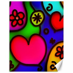 Colorful Modern Love 2 Canvas 12  X 16   by MoreColorsinLife
