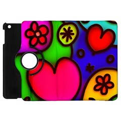 Colorful Modern Love 2 Apple Ipad Mini Flip 360 Case by MoreColorsinLife