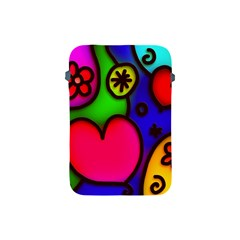 Colorful Modern Love 2 Apple Ipad Mini Protective Soft Cases by MoreColorsinLife