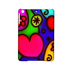 Colorful Modern Love 2 Ipad Mini 2 Hardshell Cases by MoreColorsinLife