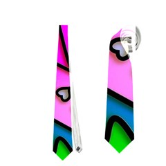 Colorful Modern Love Neckties (one Side)  by MoreColorsinLife