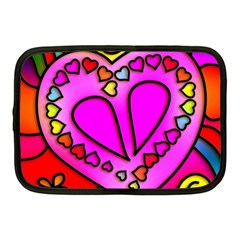 Colorful Modern Love Netbook Case (medium)  by MoreColorsinLife