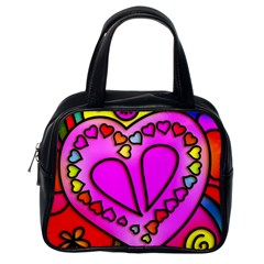 Colorful Modern Love Classic Handbags (one Side) by MoreColorsinLife