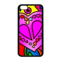 Colorful Modern Love Apple Iphone 5c Seamless Case (black) by MoreColorsinLife
