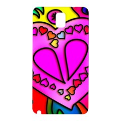 Colorful Modern Love Samsung Galaxy Note 3 N9005 Hardshell Back Case by MoreColorsinLife