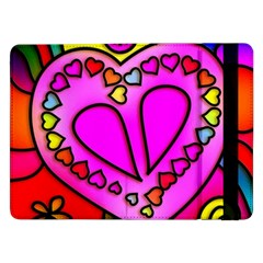 Colorful Modern Love Samsung Galaxy Tab Pro 12 2  Flip Case by MoreColorsinLife
