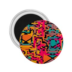 Colorful Shapes 2 25  Magnet by LalyLauraFLM