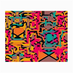 Colorful Shapes Small Glasses Cloth by LalyLauraFLM