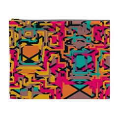 Colorful Shapes Cosmetic Bag (xl) by LalyLauraFLM