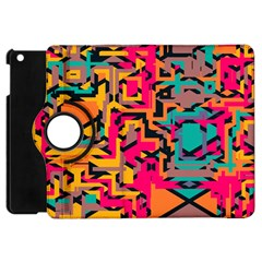 Colorful Shapes Apple Ipad Mini Flip 360 Case by LalyLauraFLM
