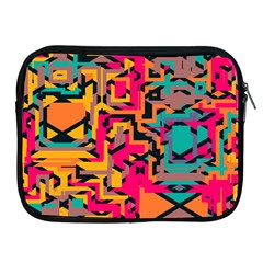 Colorful Shapes Apple Ipad 2/3/4 Zipper Case by LalyLauraFLM