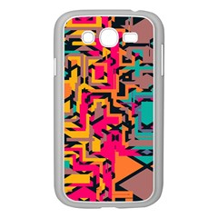 Colorful Shapes Samsung Galaxy Grand Duos I9082 Case (white) by LalyLauraFLM