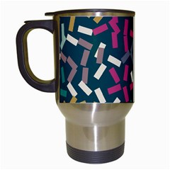 Floating Rectangles Travel Mug (white) by LalyLauraFLM
