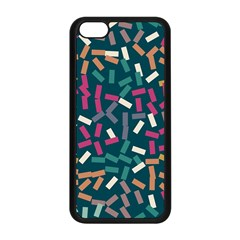 Floating Rectangles Apple Iphone 5c Seamless Case (black) by LalyLauraFLM