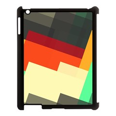 Miscellaneous Retro Shapes Apple Ipad 3/4 Case (black) by LalyLauraFLM