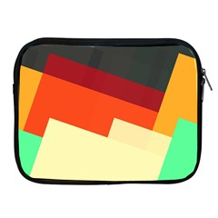 Miscellaneous Retro Shapes Apple Ipad 2/3/4 Zipper Case by LalyLauraFLM