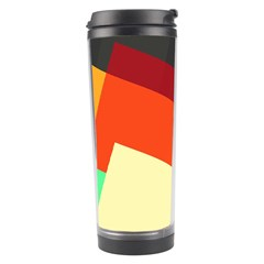 Miscellaneous Retro Shapes Travel Tumbler by LalyLauraFLM