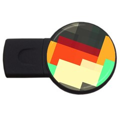 Miscellaneous Retro Shapes Usb Flash Drive Round (4 Gb) by LalyLauraFLM