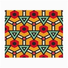 Triangles And Hexagons Pattern Small Glasses Cloth (2 Sides) by LalyLauraFLM