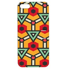 Triangles And Hexagons Pattern Apple Iphone 5 Hardshell Case With Stand by LalyLauraFLM