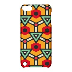 Triangles And Hexagons Pattern Apple Ipod Touch 5 Hardshell Case With Stand by LalyLauraFLM