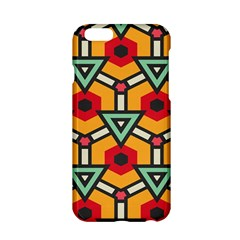 Triangles And Hexagons Pattern Apple Iphone 6 Hardshell Case