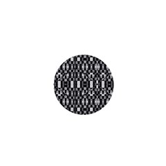 Black And White Geometric Tribal Pattern 1  Mini Buttons by dflcprints