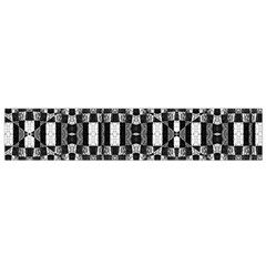 Black And White Geometric Tribal Pattern Flano Scarf (small)  by dflcprints