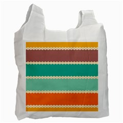 Rhombus And Retro Colors Stripes Pattern Recycle Bag