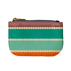 Rhombus And Retro Colors Stripes Pattern 	mini Coin Purse